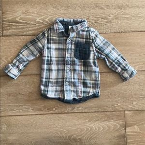 Oshkosh Plaid Shirt Jacket - Warm and Cozy!